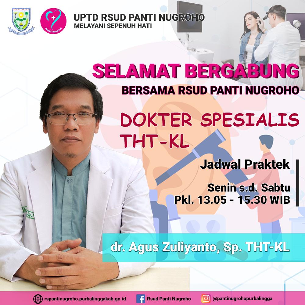 Dokter Spesialis THT-KL RSUD Panti Nugroho