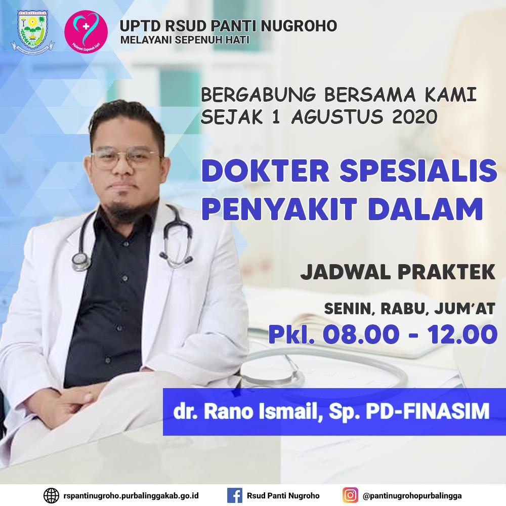Dokter Spesialis Penyakit Dalam RSUD Panti Nugroho